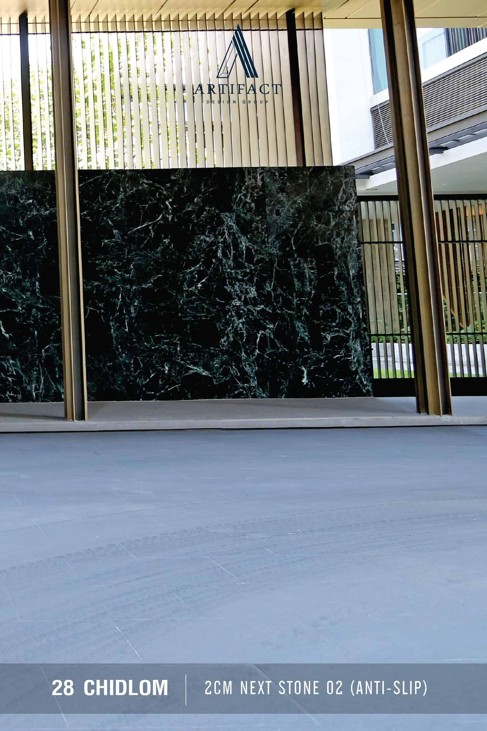 28 Chidlom เลือกใช้ กระเบื้อง artifact Granite Stone 02 และ Granite Stone 03