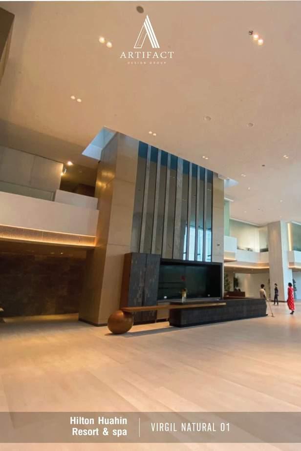 Hilton Hua-hin เลือกใช้กระเบื้องพอร์ซเลนลายไม้ Virgil Natural 01