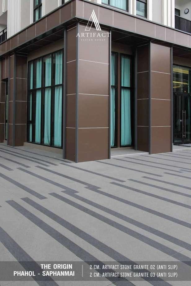 THE ORIGIN PHAHOL – SAPHANMAI กระเบื้องพอร์ซเลน 2 cm. Artifact Stone Granite 02 และ 2 cm. Artifact Stone Granite 03